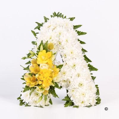 Tribute Letter Yellow Hazel Holly Florist Downend Bristol