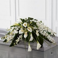 Callay Lily and Orchid Casket Spray *