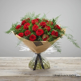 Heavenly Red Rose Hand tied.